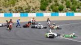 VIDEO: noua piloti Moto2 au cazut din cauza unei pete de ulei pe circuit24626