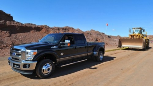 VIDEO: Un Ford Super Duty trage 40 de tone22876