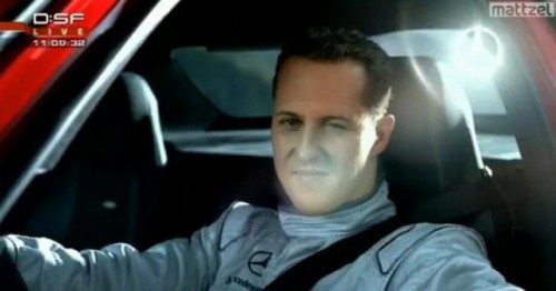 VIDEO: Michael Schumacher, pilot in spotul la Mercedes SLS AMG19239