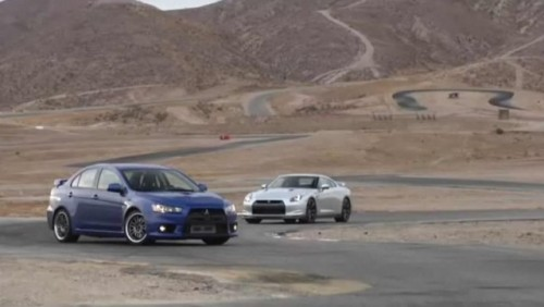 VIDEO: Mitsubishi Evo X vs. Nissan GT-R18323