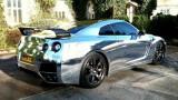 Nissan GT-R de la alb mat la crom lucios17149