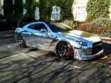 Nissan GT-R de la alb mat la crom lucios17150