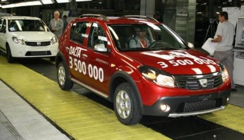 Dacia a produs, miercuri, automobilul cu numarul 3.500.00014391