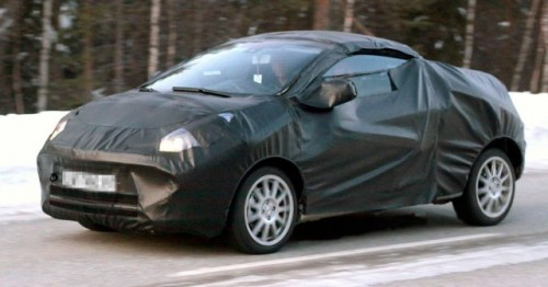 Renault Twingo CC spionat la teste in Suedia!7500