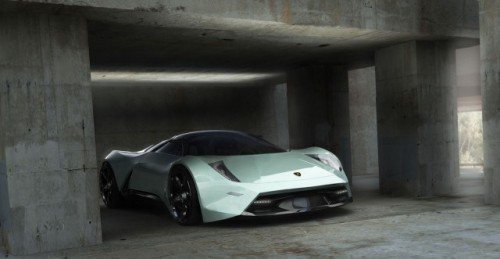EXCLUSIV: Un roman a desenat Lamborghini-ul viitorului7173