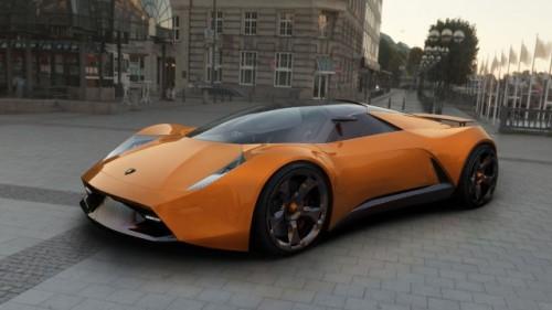 EXCLUSIV: Un roman a desenat Lamborghini-ul viitorului7176