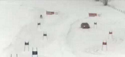 VIDEO: Confruntare intre Audi S4 si un schior6975