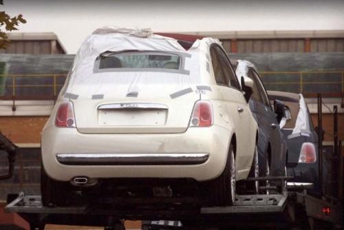 Noi imagini spion cu Fiat 500 Cabrio!4399