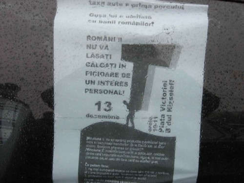 Taxa auto: sute de oameni in strada in Capitala3624
