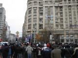 Taxa auto: sute de oameni in strada in Capitala3615