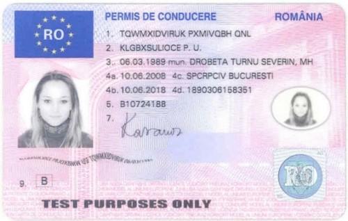 Noile permise de conducere si certificate de inmatriculare, eliberate de marti in toate judetele3521