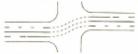 Marcaj de ghidare la traversarea unei intersectii