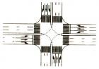 Marcaj de ghidare in intersectie
