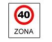 Zona cu viteza limitata la ...km/h