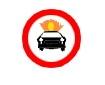 Accesul interzis vehiculelor care transporta substante explozive sau usor inflamabile