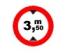Accesul interzis vehiculelor avand o inaltime mai mare de ....m