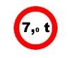 Accesul interzis vehiculelor avand o masa mai mare de ....t