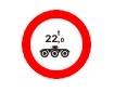 Accesul interzis vehiculelor avand masa pe osia tripla mai mare de ....t