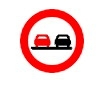 Depasirea autovehiculelor, cu exceptia motocicletelor fara atas interzisa