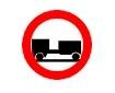 Accesul interzis autovehiculelor cu remorca, cu exceptia celor cu semiremorca sau cu remorca cu o os