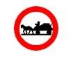 Accesul interzis vehiculelor cu tractiune animala