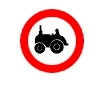 Accesul interzis tractoarelor si masinilor agricole