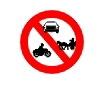 Accesul interzis autovehiculelor si vehiculelor cu tractiune animala