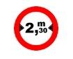 Accesul interzis vehiculelor avand o latime mai mare de ....m