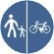 Delimitarea pistelor pentru pietoni si biciclete