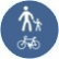 Pista comuna pentru pietoni si biciclisti