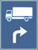 Traseu de urmat pentru anumite categorii de vehicule