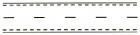 Marcaj de separare a sensurilor de circulatie format dintr-o linie discontinua simpla. Marcaj de delimitare a partii carosabile cu linie discontinua