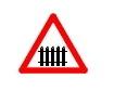 Tecere la nivel cu o cale ferata cu bariere sau semibariere