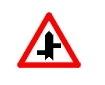 Intersectie cu drumuri fara prioritate decalate