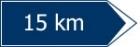 Directia si distanta pana la locul la care se refera indicatorul