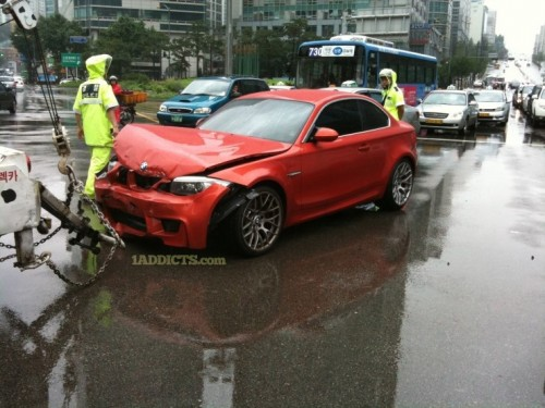 BMW M1 Coupe accident