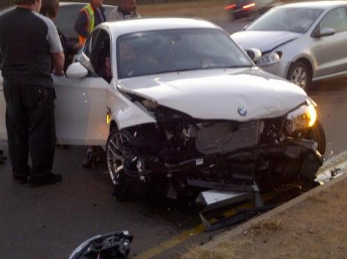 BMW M1 accident 4