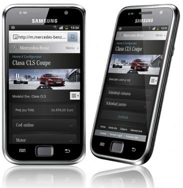 Site Mercedes - Versiune mobila