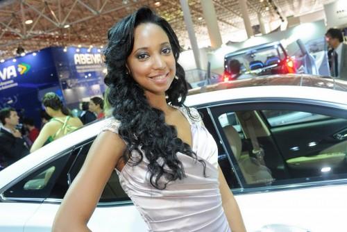 Fetele de la Salonul Auto International din Sao Paolo