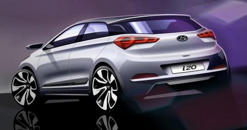 Hyundai dezvăluie primele schiţe oficiale ale noii generatii i20