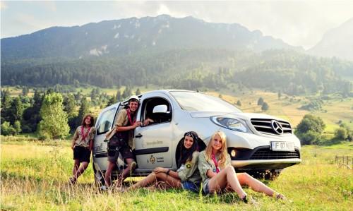 Mercedes-Benz România sprijină cercetașii în aventurile lor