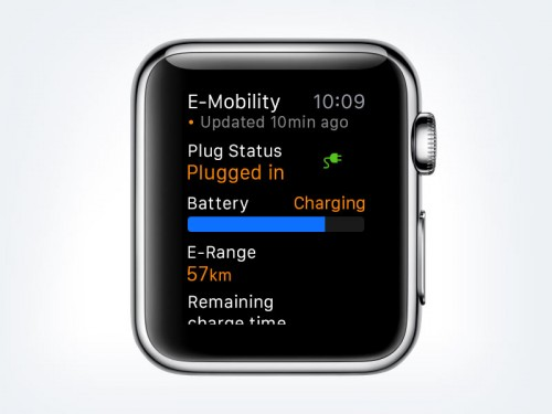 Porsche Car Connect pentru Apple Watch