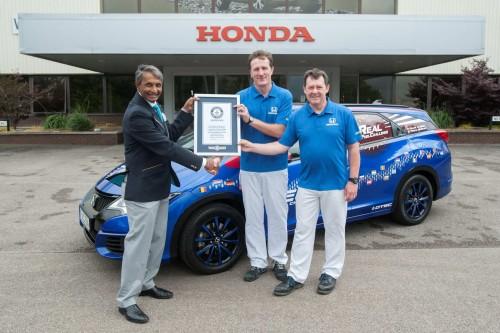 Record de consum cu Civic Tourer: 2,82 l/100 km