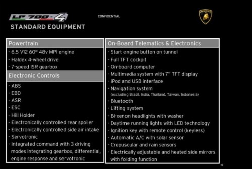 Iata brosura tehnica al noului Lamborghini LP700-4!38119