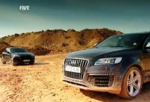 video porsche cayenne turbo vs audi q7 v12 tdi. Black Bedroom Furniture Sets. Home Design Ideas