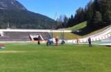VIDEO: Un Audi misterios, spionat in timpul catararii pe o trambulina de schi30339