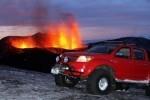 Toyota Hilux si vulcanul din Islanda