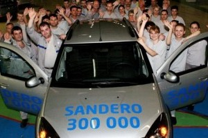 Dacia a ajuns la 300.000 unitati Sandero produse