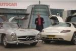 VIDEO: Mercedes SLS AMG vs 300SL Gullwing