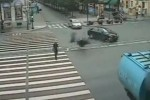 VIDEO: Pieton ucis de un motociclist de 15 ani!